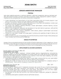 Sample Warehouse Management Resume Sample Resume Warehouse Supervisor Job Objectives Inventory