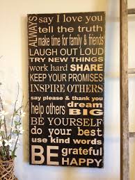 family rules canvas wall art takuicecom