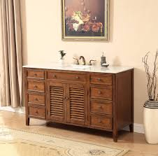58 inch bathroom vanity. 58 Inch Bathroom Vanity Coastal Cottage Beach Style Medium Brown Color (58\