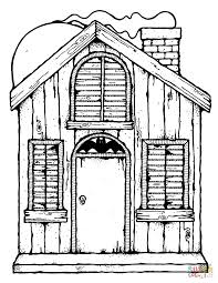 Haunted House coloring page | Free Printable Coloring Pages