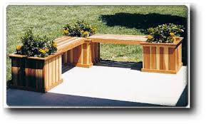 wooden bench planter boxes planter bench woodworking plans