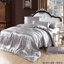 silk luxury bedding.  Luxury Great Taste Silver Gray Duvet Cover Set Silk Bedding Luxury Bedding King  Size Intended S