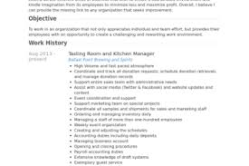 How To Write A Resume For A Kitchen Manager How To Write A