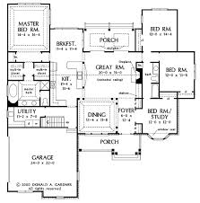 Open House Plans With Pictures Gorgeous Inspiration Ranch Style Gorgeous 3 Bedroom Open Floor House Plans Creative Design