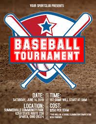 Baseball Brochure Template Baseball Tournament Flyer Template Postermywall