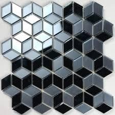 diamond blue gray glass l and stick decorative bathroom wall tile backsplash 7 sq ft case
