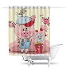 """Шторы в ванную """"Поросёнок"""" #2540329 от nadegda - <b>Printio</b>"""