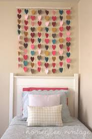 diy paper heart wall art melissa squires squires squires squires squires squires thacker these would be super cute made of fabric or felt and hung above  on teenage girl room wall art with 25 teenage girl room decor ideas pinterest paper hearts diy