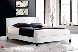 leather platform bed white faux zinus deluxe upholstered king queen