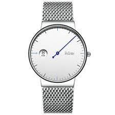 BIDEN <b>Luxury</b> Mens Quartz Wrist Watch Stainless Steel <b>Wristband</b> ...