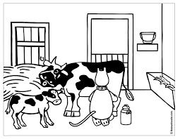 Dessin Colorier Vache Facile
