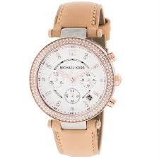 michael kors mk5633 las parker leather watch prev