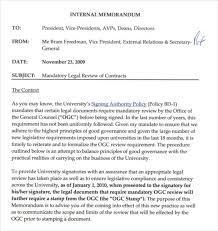 Sample Internal Legal Memorandum