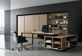 office interior decorating. Interior: Stunning Black Office Interior Design With Wooden Table And Swivel Chairs For Ceo Decorating