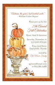 Pumpkin Topiary Invitation Fall Party Invitations