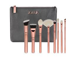 the third instalment from their rose golden range zoeva has created a set of eight essential brushes