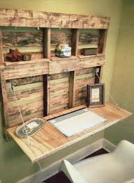 diy pallet fold able desk with shelves