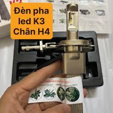 Đèn pha led K3 chân H4 chính hãng bảo hành 1 năm lắp cho xe máy và ô tô  sáng siêu mạnh - Đèn