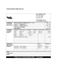 7 Excel Bank Statement Template Sampletemplatess Free Picture ...