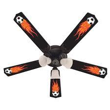 ceiling fan designers flaming soccer indoor ceiling fan hayneedle