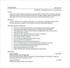Web Developer Resume Example Trezvost