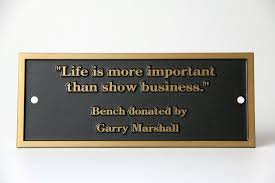 to enlarge image park bench plaques gary marshall 2 jpg