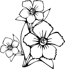 Small Picture Coloring Page Of A Flower Print And Book Flower Simple shapes