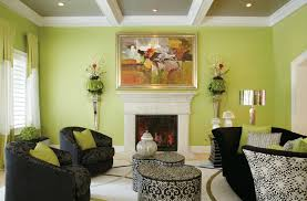 Adorable Lime Green & Taupe Living Room  Callforthedream
