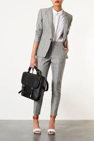 Womens Light Gray Pant Suit Love This Light Grey Suit Blazer Outfits Work Suits Fashion