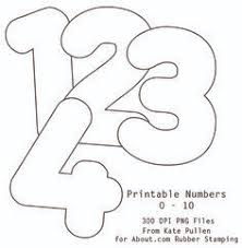 number 3 template 9 best number templates images