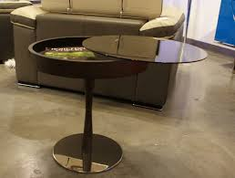 modern round coffee table design featuring luxury wenge coffee table with storage under glass you
