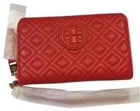 Tory Burch Red Marion Quilted Smartphone Masaai Leather Wristlet ... & Tory Burch Marion Quilted Smartphone Masaai Red Leather Wristlet Wallet Adamdwight.com