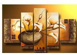 100 hand painted wood framed wall art weak yellow lily bottle home decoration abstract floral oil painting on canvas 5pcs set mixorde on hand painted wood wall art with 100 hand painted wood framed wall art weak yellow lily bottle home
