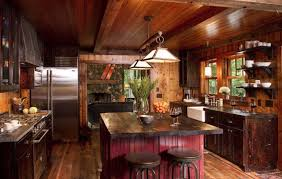 rustic cabin kitchens. Perfect Rustic Cabin Kitchens Kitchen Kitchenette In The With An