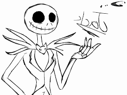 Christmas Jack Skellington Coloring Pages Get Coloring Page