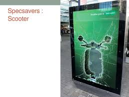 advertising world wide stunts q specsavers scooter<br