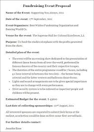 Sample Letter For Event Proposal Event Proposal Sample Charity Template Fundraising Ideas Simple With