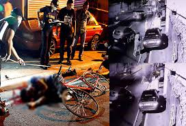 manhunt on for biker killer in quiapo road rage headlines news road rage the body of mark vincent garalde is slumped next to his bicycle after he was shot dead by the driver of the car that bumped him along p casal