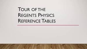 tour of the regents physics reference tables