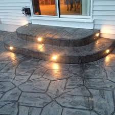love the lighting in steps nice for taking dog out u0026 summer nights stamped concrete patio with stairs90 patio