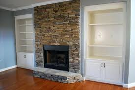 white stone veneer stacked for fireplace
