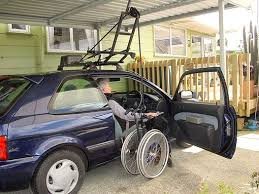 wheelchair lift for car. Images Showing The \u0027Highline\u0027 Rooftop Wheelchair Hoist In Operation (Click On To View Larger Versions). Lift For Car C