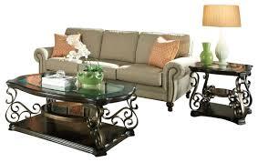 3 piece table set. Standard Furniture Seville 3-Piece Coffee Table Set With Burnished Bronze Base 3 Piece U