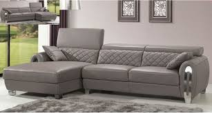 gray leather couch. Italian Gray Leather Sectional Sofa Modern Design Modern-living-room Couch E