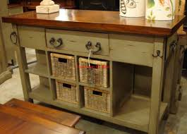 French Country Island Kitchen Black Vintage Distressed Kitchen Island Cottage Distressed French