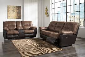 ASHLEY FOLLETT Reclining Sofa AND Love Dream Rooms Furniture