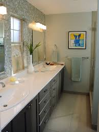 Example of a trendy bathroom design in Other with a drop-in sink