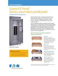 Eaton Lighting Panel Eaton S Ez Panel Factory
