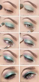 cute mint eye makeup tutorial