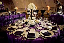 Wedding Table Decorations Purple And Black Archives Decorating Purple And Black Wedding Colors